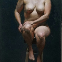 Nude Figure, oil on canvas