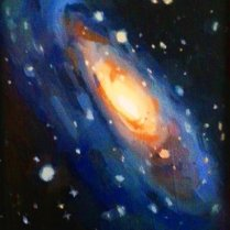 Galaxy Study, oil on board