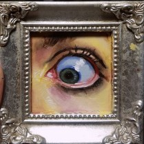 Eye, oil on glass