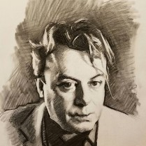 Hitch, charcoal on paper