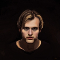 Portrait of a Stranger, oil on canvas
