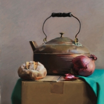 Tea Kettle, oil on canvas