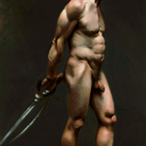 Figure Study, oil on canvas
