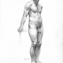 Figure Study, pencil on paper