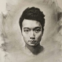 Alex Wong, charcoal on paper