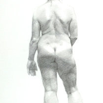 Back Study, pencil on paper