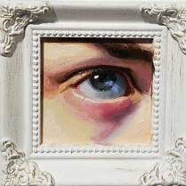 My Eye, oil on glass