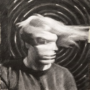 Passage III, charcoal on paper