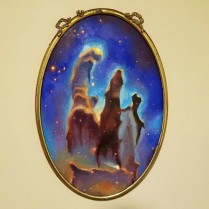 Pillars of Creation, oil on metal