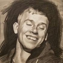 Randy, charcoal on paper